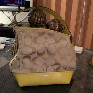 Yellow Bucket Coach bag
